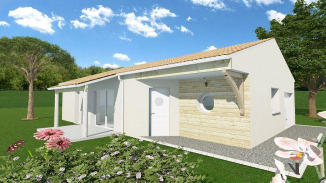 Terrain et maison sur LANDIRAS 33720