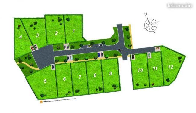 Terrain de 450 m² à Pujols-sur-ciron