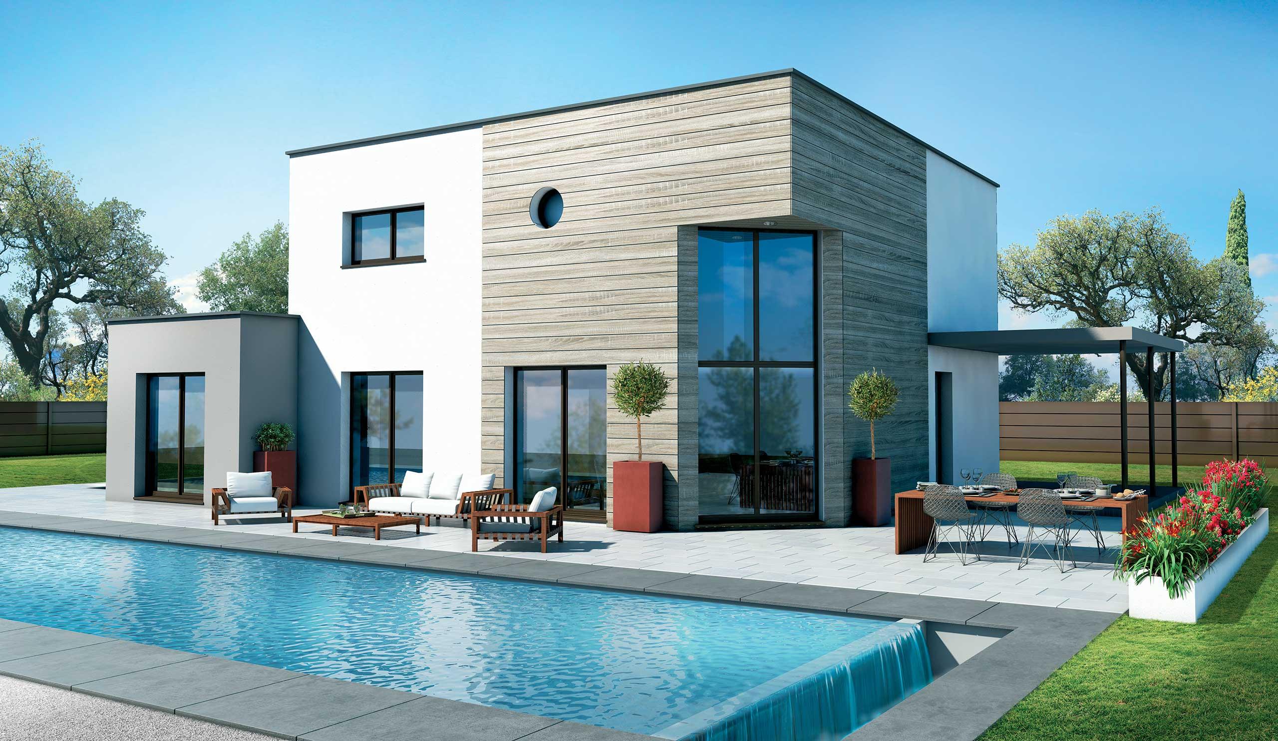maison modèle de maison baobab : un design conceptuel cubique