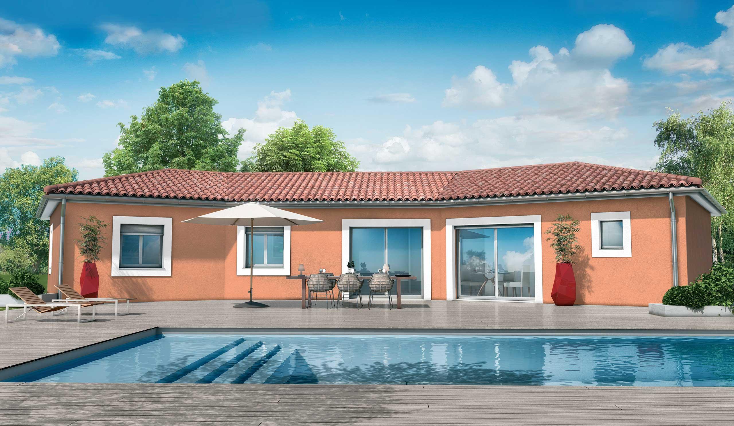 maison modèle de maison cèdre : une maison au design méditerranéen