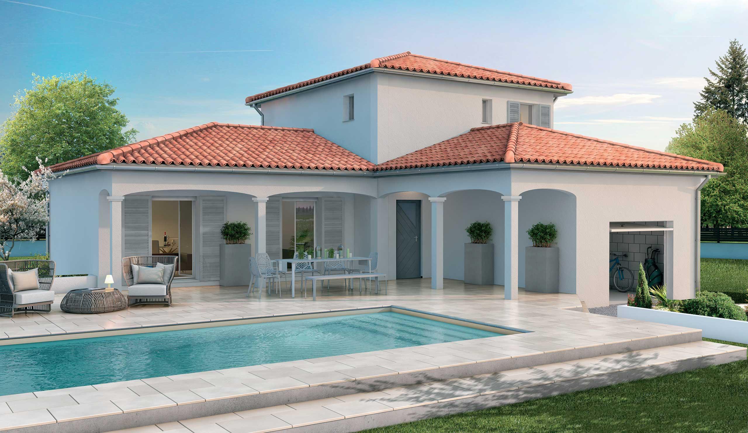 maison modèle de maison charme : une maison aux allures provençales