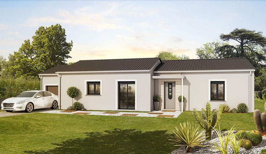 maison modèle contemporain modèle chêne