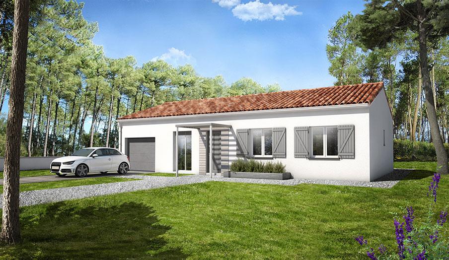 maison mod le galet mod le maison traditionnel demeures d 39 aquitaine constructeur maison. Black Bedroom Furniture Sets. Home Design Ideas