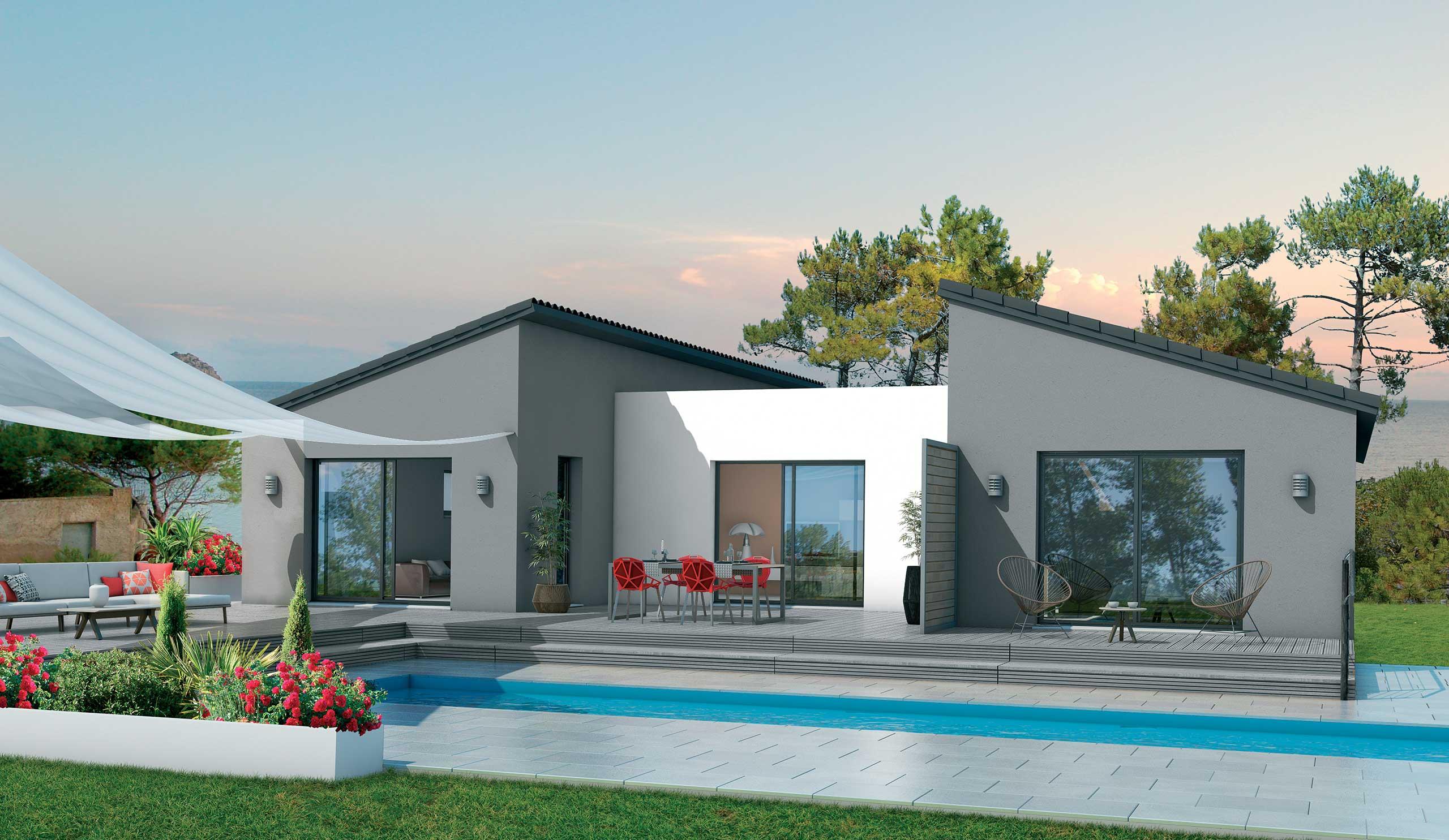 maison modèle de maison hévéa : une architecture soignée et moderne