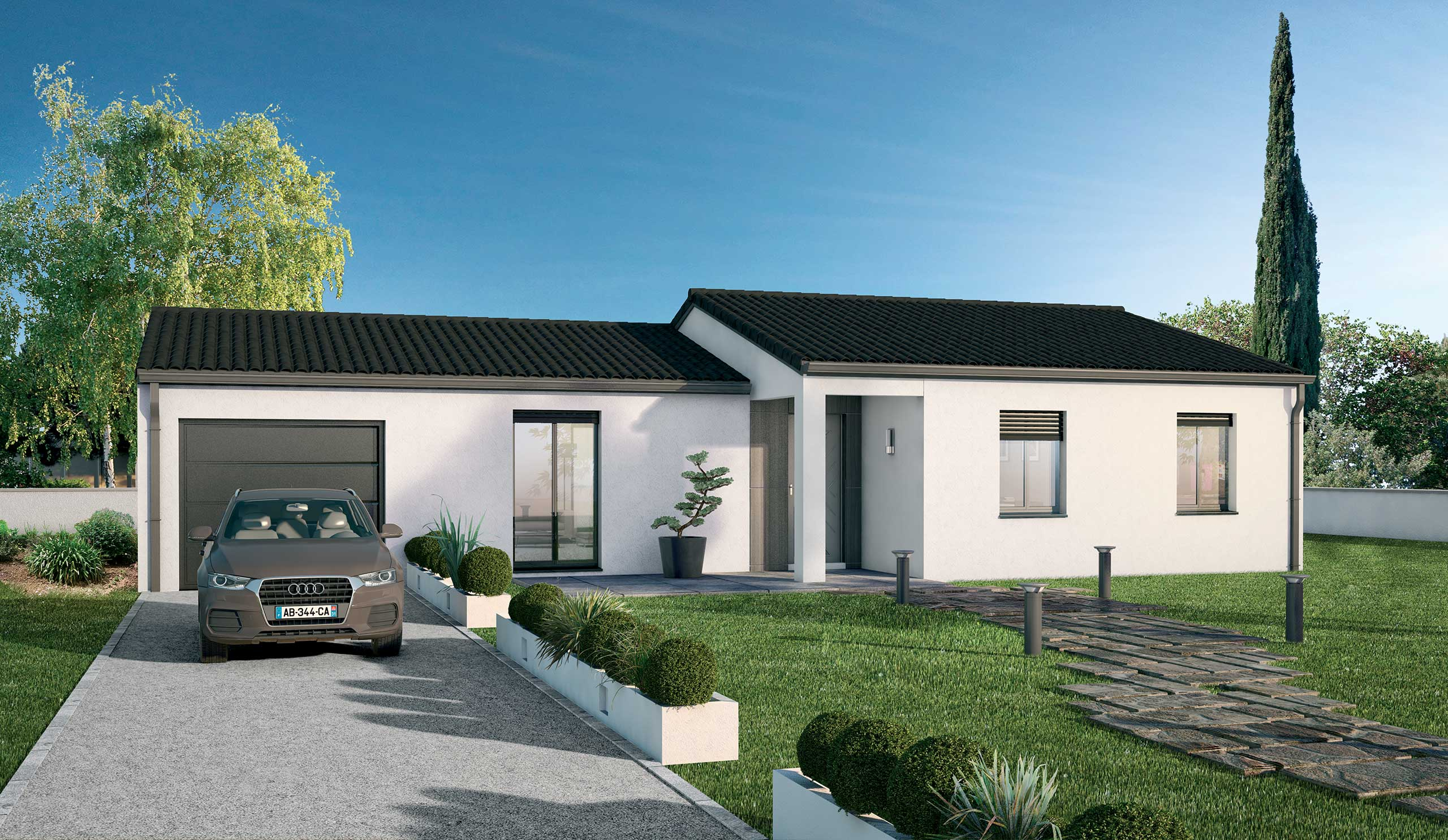 maison modèle de maison lilas : un design agréable et lumineux