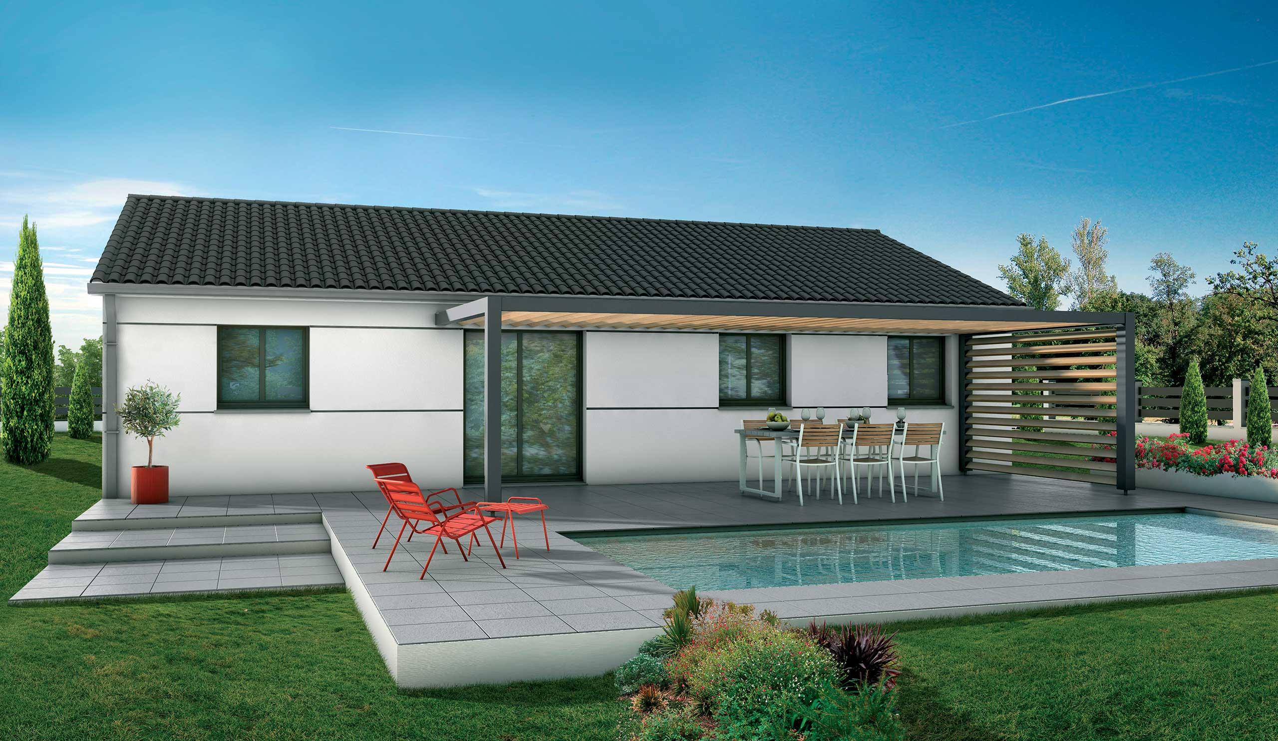 maison modèle de maison magnolia : des lignes épurées et résolument modernes