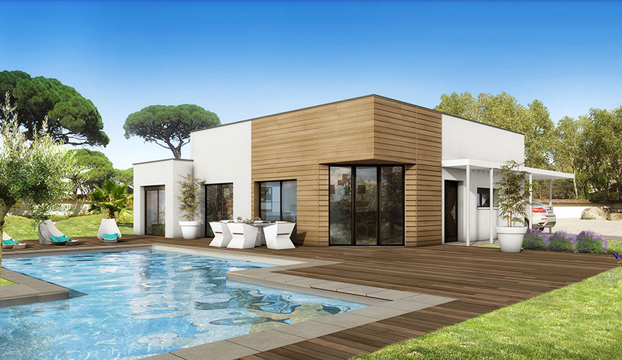 Maison mod le baobab mod le maison contemporain for Model de construction maison