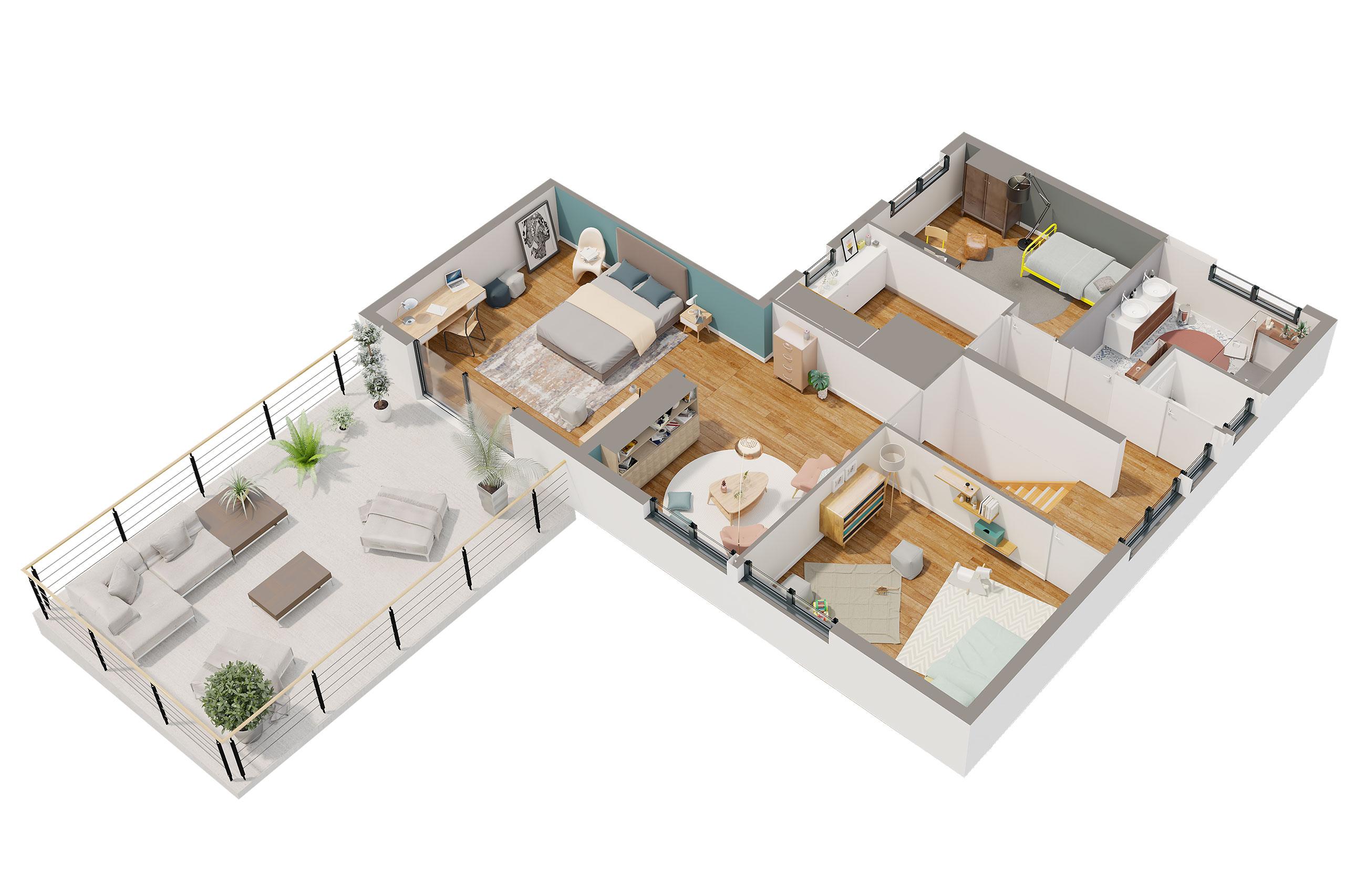 Maison Contemporaine Etage Albizia Avec Plans Demeures D Aquitaine Constructeur Maison Individuelle Nouvelle Aquitaine