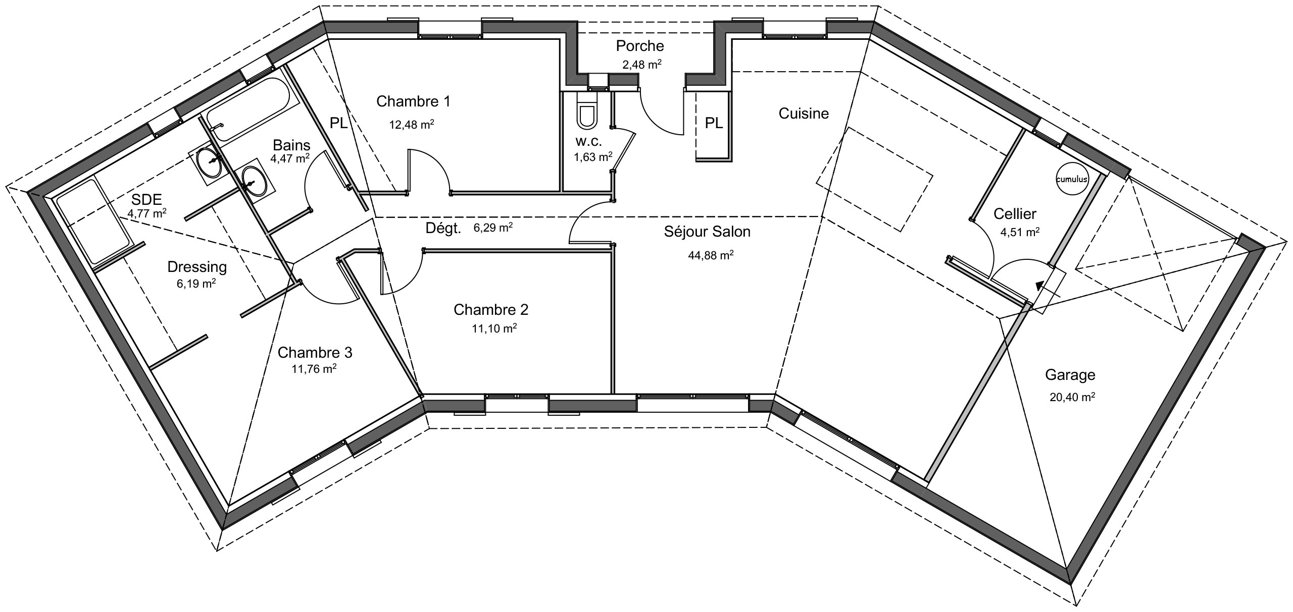 Maison Traditionnelle Plain Pied Cedre Avec Plans Demeures D