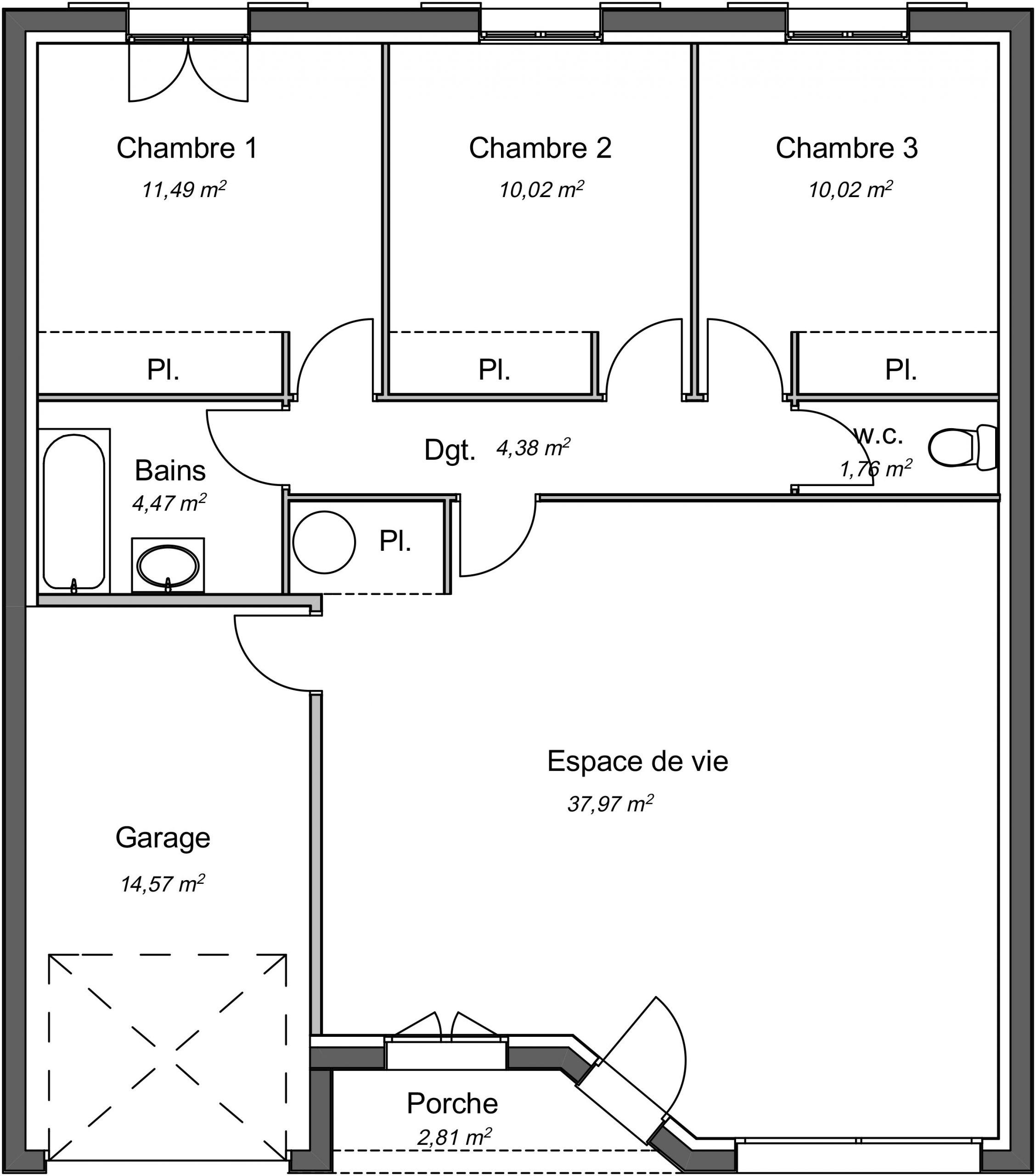 Construction D Une Maison 85m A Aubie Et Espessas Constructeur Langon 33