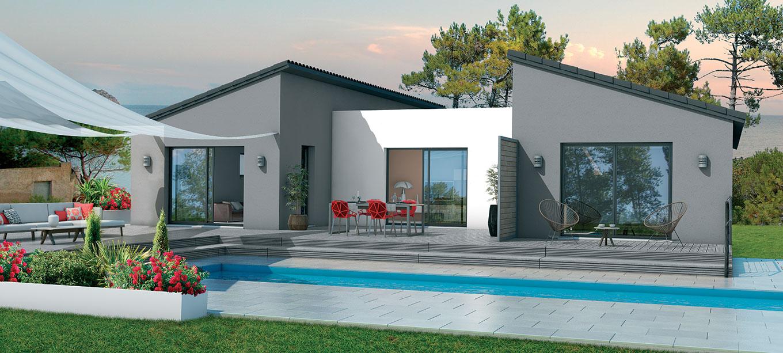 Maison avec piscine dans les landes for Constructeur de maison en bois dans les landes