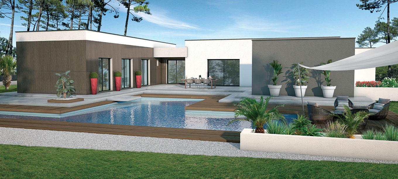 Demeures d 39 aquitaine constructeur aquitaine et gironde - Constructeur maison contemporaine toit plat avec pasio ...