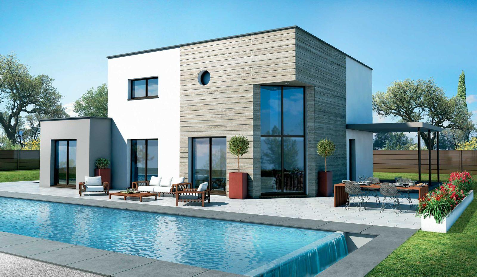 Maison de 140 m² habitable + abris voiture de 17 m² + terrain viabilisé et bornés de 580 m² au Haillan 33185