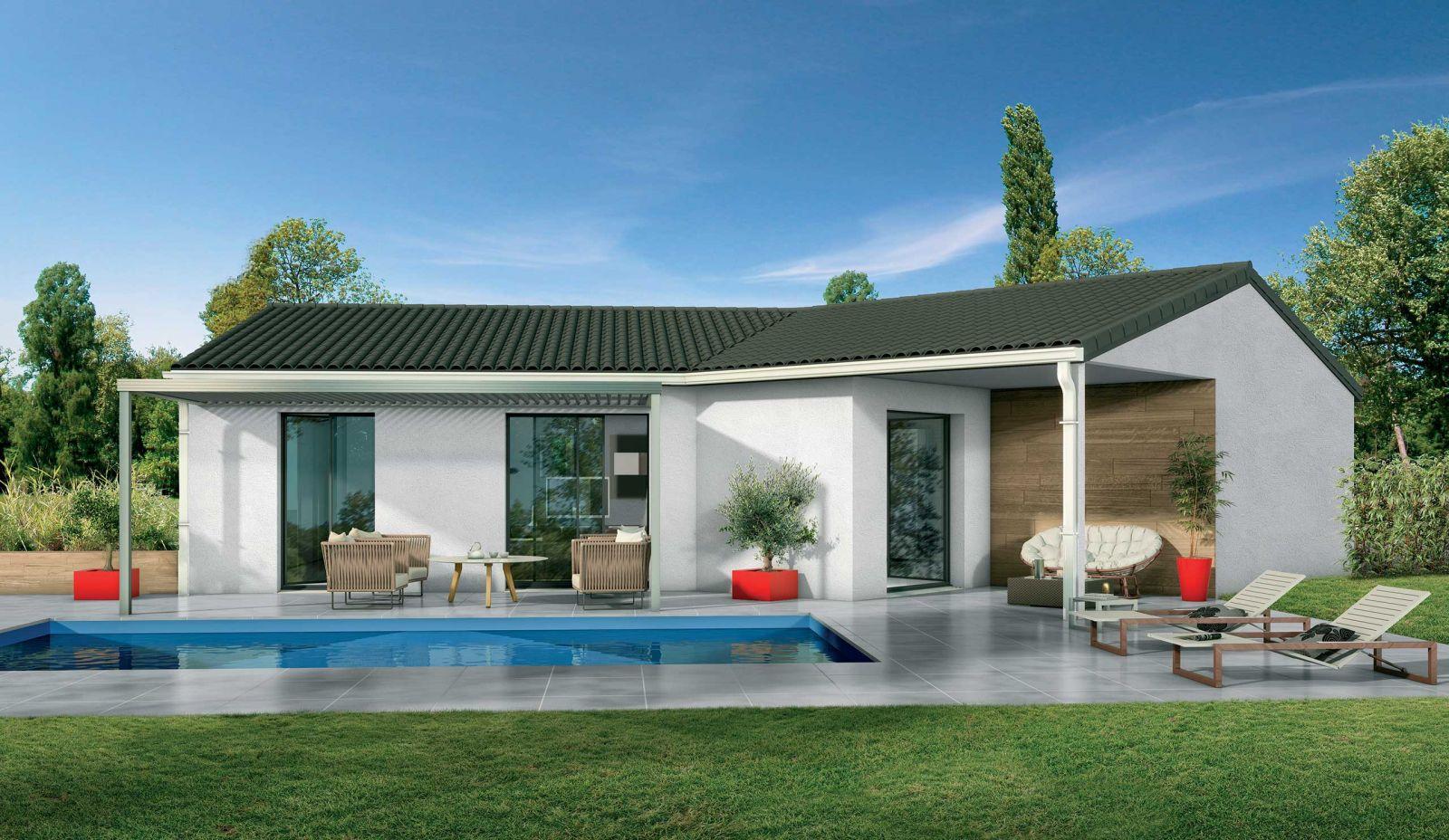 Terrain constructible + maison avec garage à SAINT MEDARD D'EYRANS