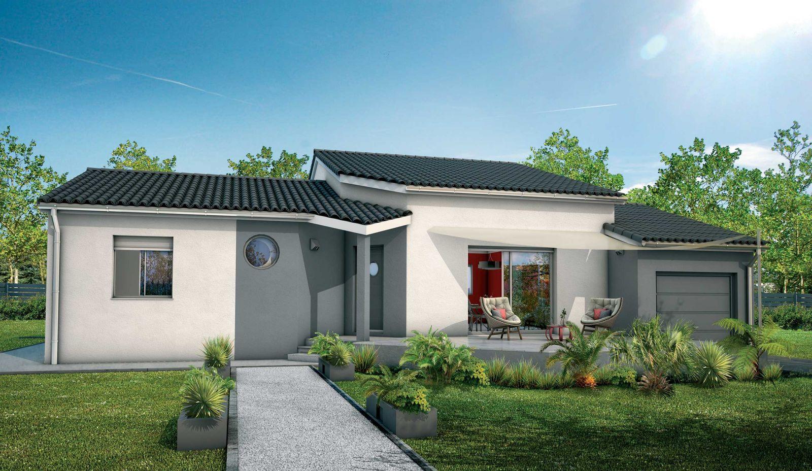 maison semi-étage + garage 141 m² globale + terrain 700 m² viabilisé à St Médard d' Eyrans 33650