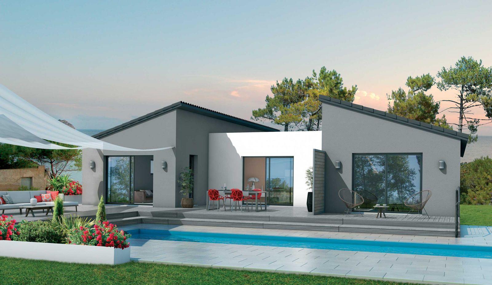 Terrain de 1100 m² + Maison de 117 m² + abri voiture 19 m² sur la commune de Budos