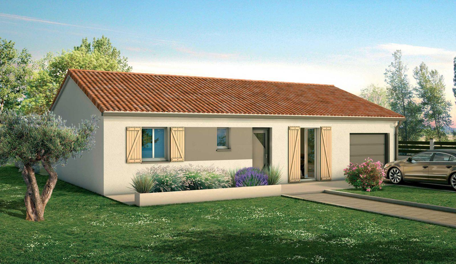 Terrain constructible à Peujard + maison 3 chambres