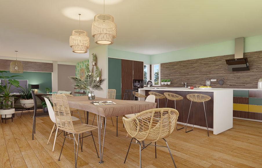 Modèle de maison Acajou : une villa moderne de plain-pied
