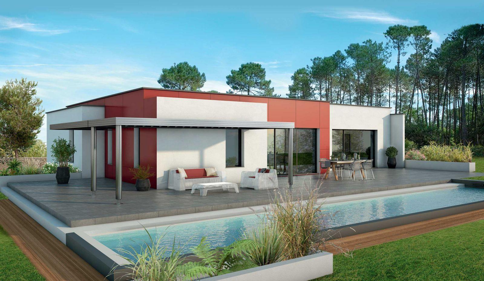 Terrain constructible à BRUGES (33520) + maison 3 chambres et garage