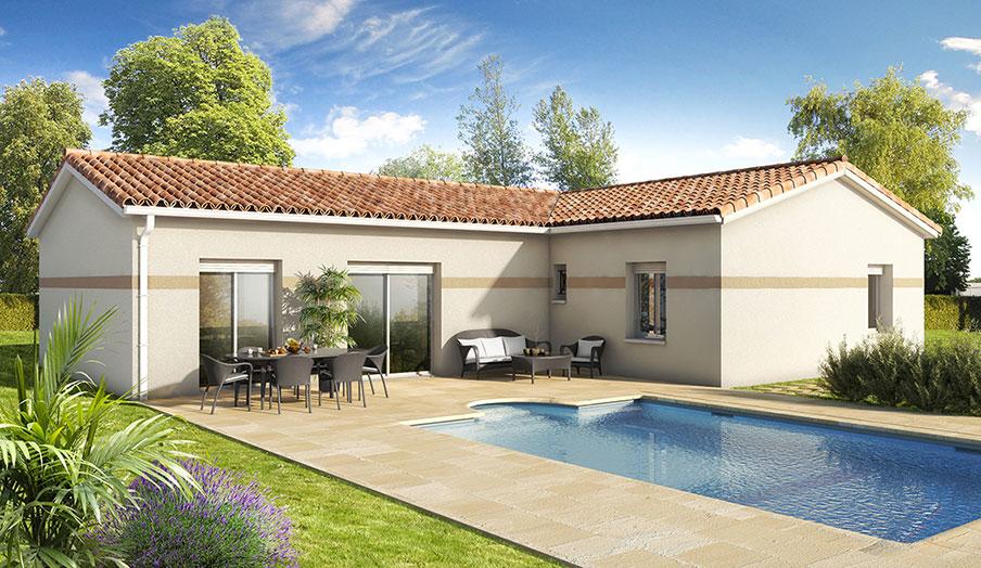 Terrain vendre avec maison vayres 33 constructeur for Constructeur maison 33