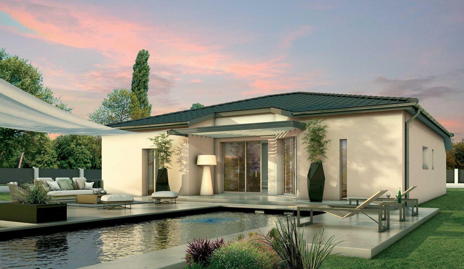 Maison contemporaine carré de 112 m² habitable + terrain de 430 m² viabilisé à Léognan 33850