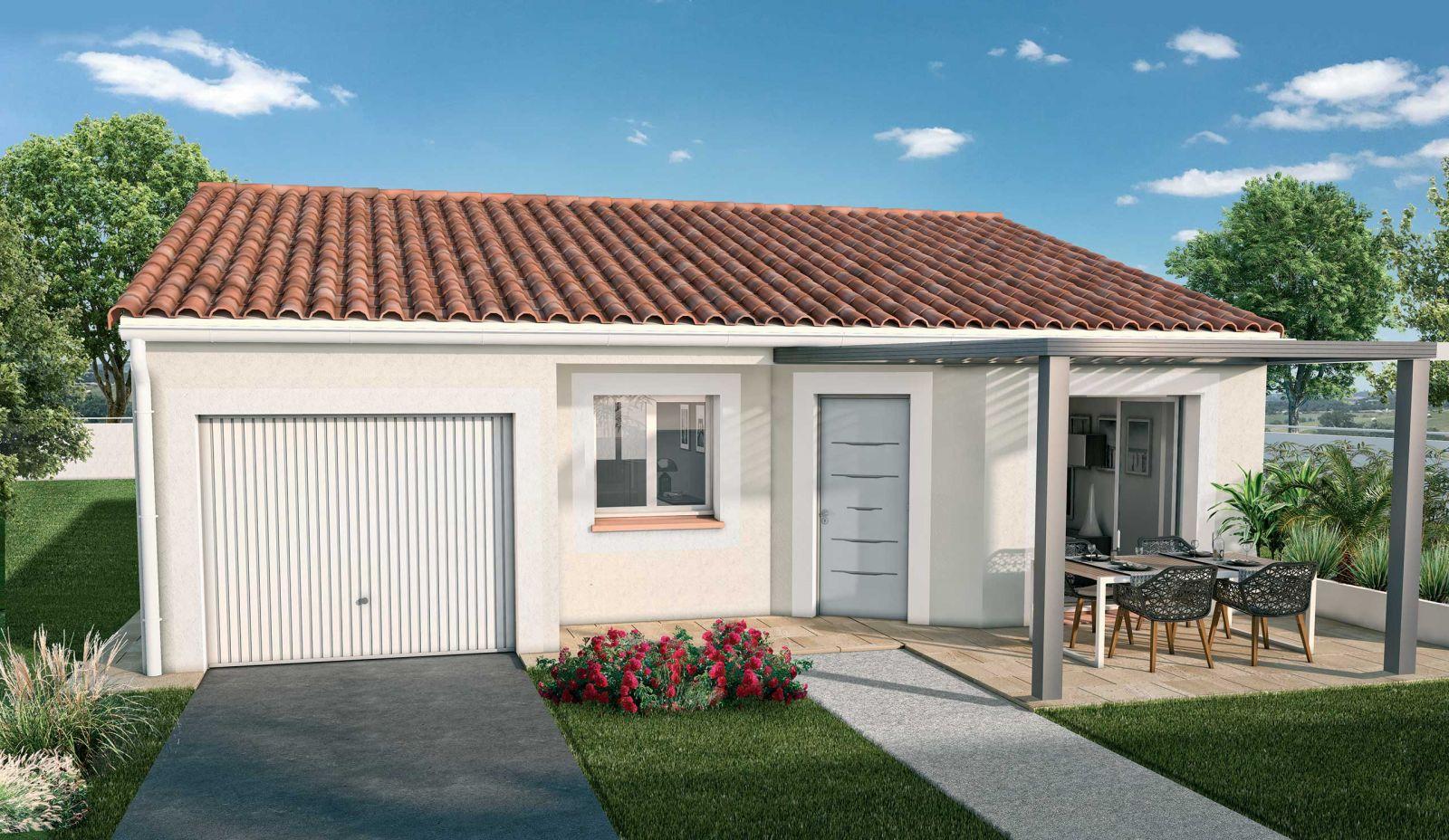 Maison 95 m² global + terrain de 430 m² viabilisé à Léognan 33850
